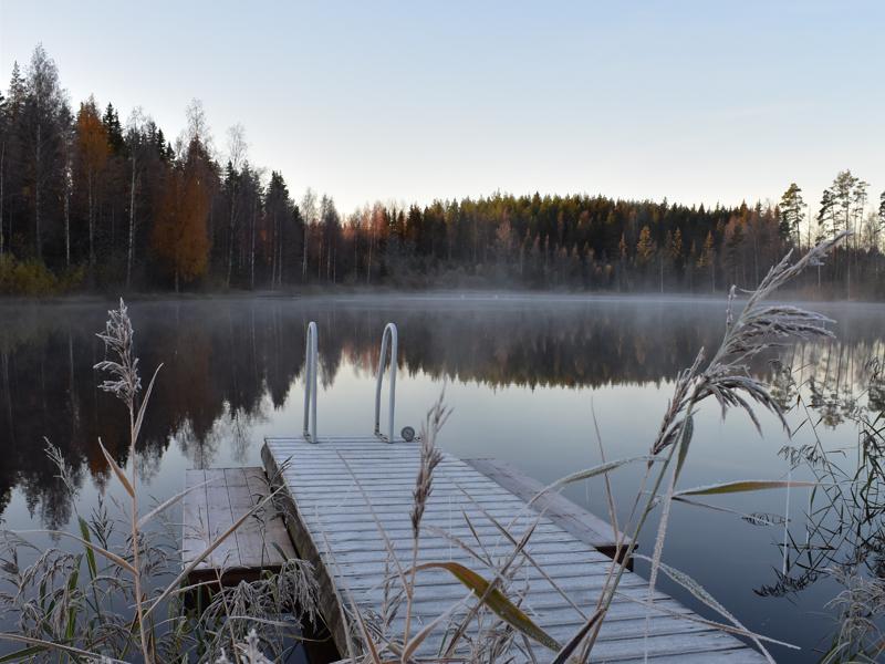 Uinti on mahdollista myös talvikaudella.